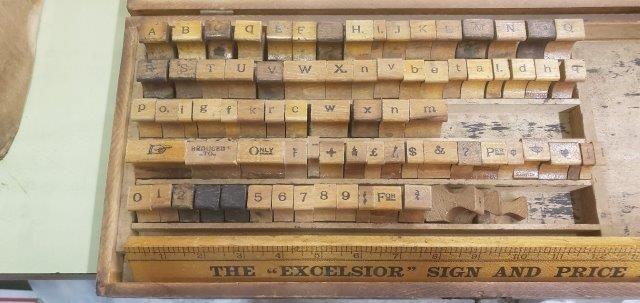 Vintage The Excelsior Sign & Price Markers Kit