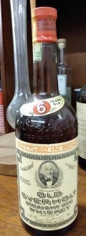 OLD OVERHOLT Bottle with tax strip & top sealed
