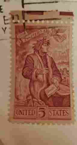 Dante 100th Anniversary 5 cent stamp