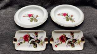 Collection of Rose China Ashtrays