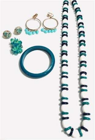 Vintage Teal Jewelry Collection