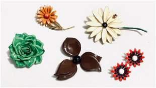 Vintage Enamel Flower Grouping