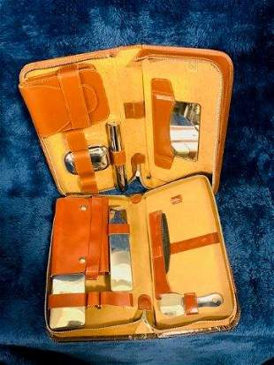Pair of Vintage Leather Travel Kits