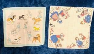Vintage Children's Handkerchief Pair