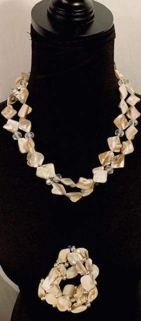 Lovely Baroque Two-Strand Pearl Necklace with