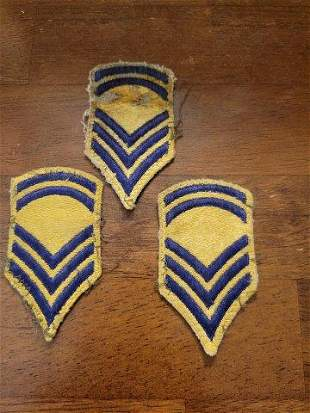 Three Military Patches