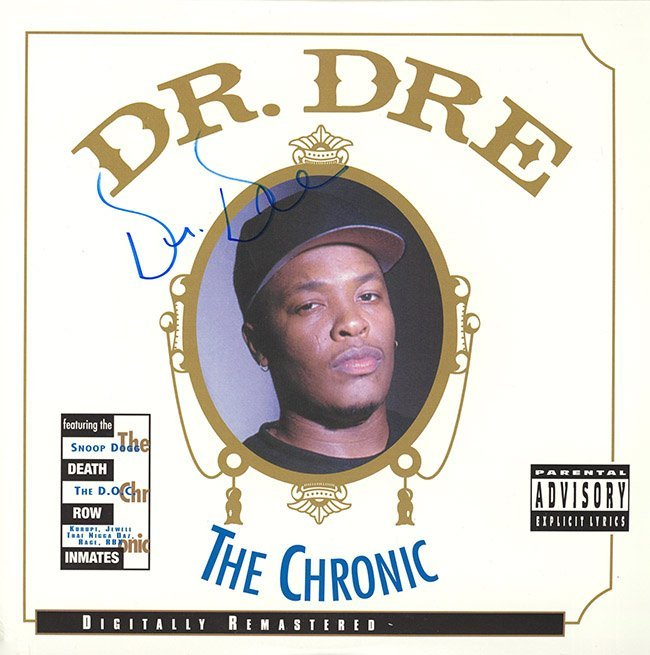 Dr. Dre The Chronic signed Album