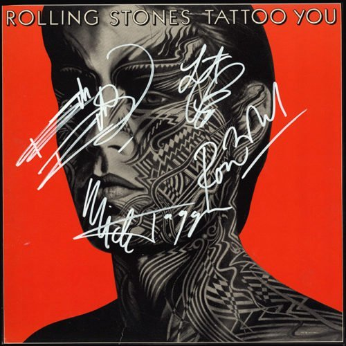 The Rolling Stones Tattoo signed Album