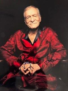 Autographed Hugh Hefner photograph