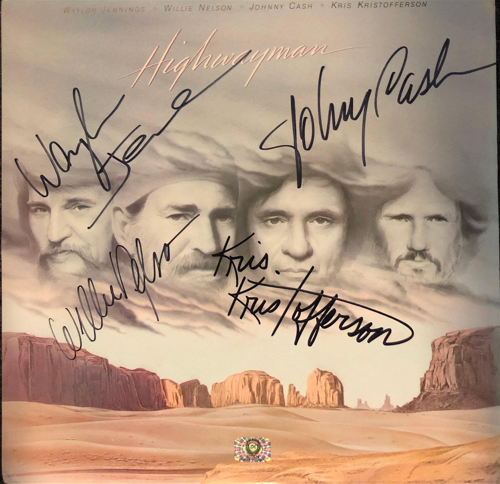 The Highwaymen Signed Self-Titled Album