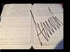 Donald Trump Signed Golf Scorecard PSA