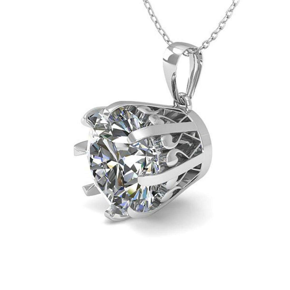 2 ctw Diamond Solitaire Necklace 18K White Gold