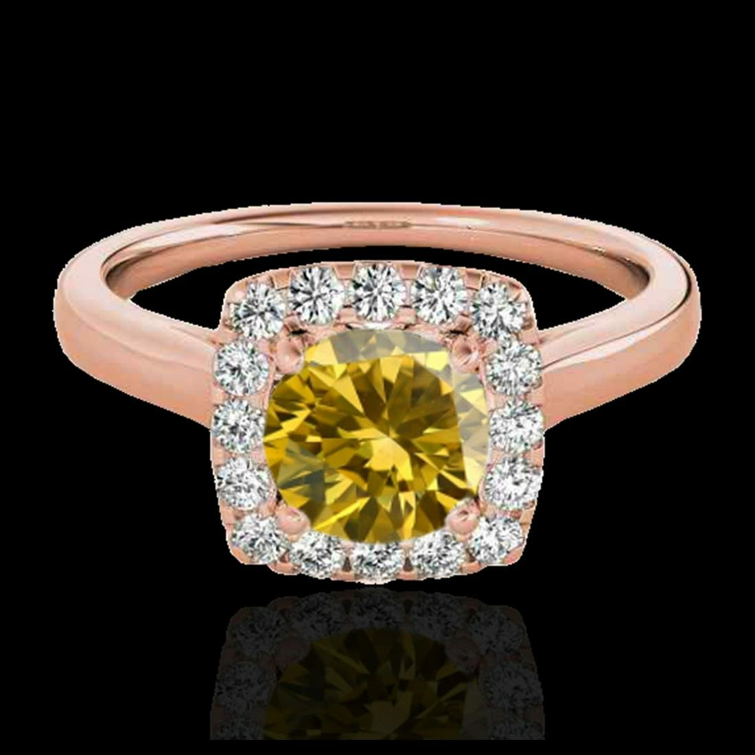 1.37 ctw SI/I Fancy Intense Yellow Diamond Ring 10K