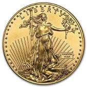 1 oz Gold American Eagle BU Random Year