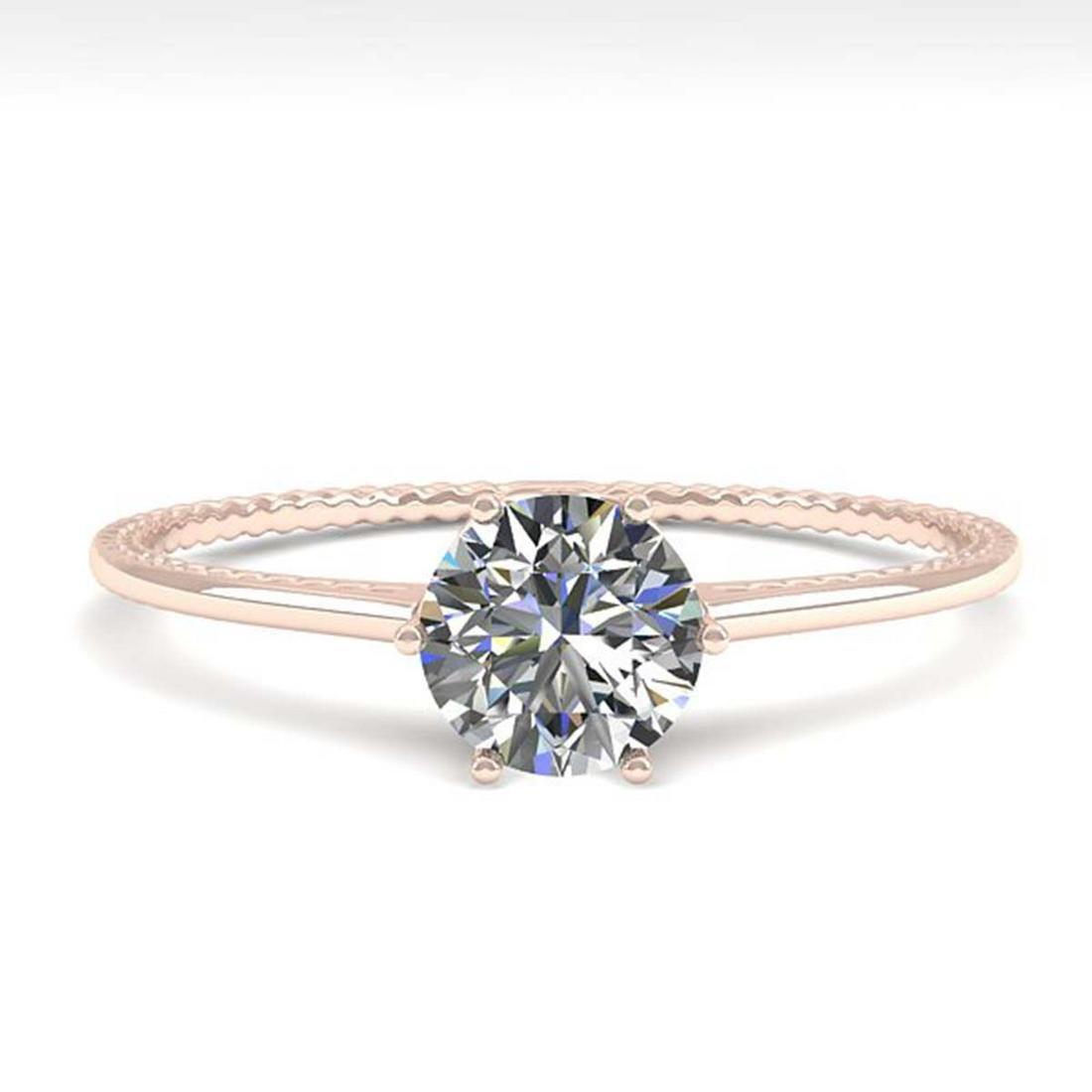 0.50 ctw VS/SI Diamond Ring 18K Rose Gold