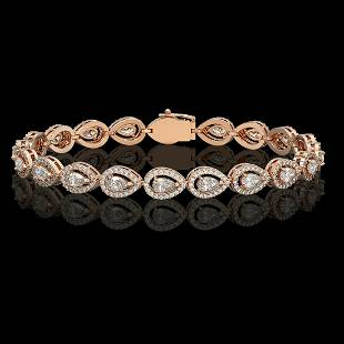 729 ctw Pear Diamond Bracelet 18K Rose Gold