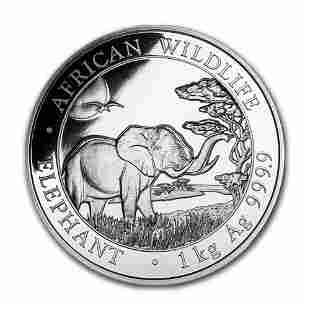 2019 Somalia 1 kilo Silver Elephant