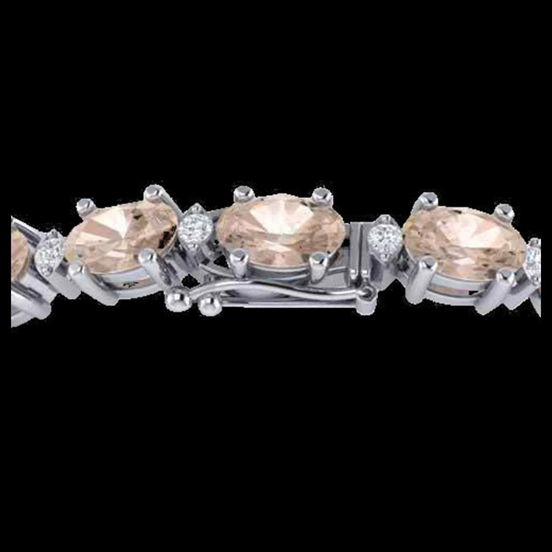 18.75 ctw Morganite & VS/SI Diamond Eternity Bracelet