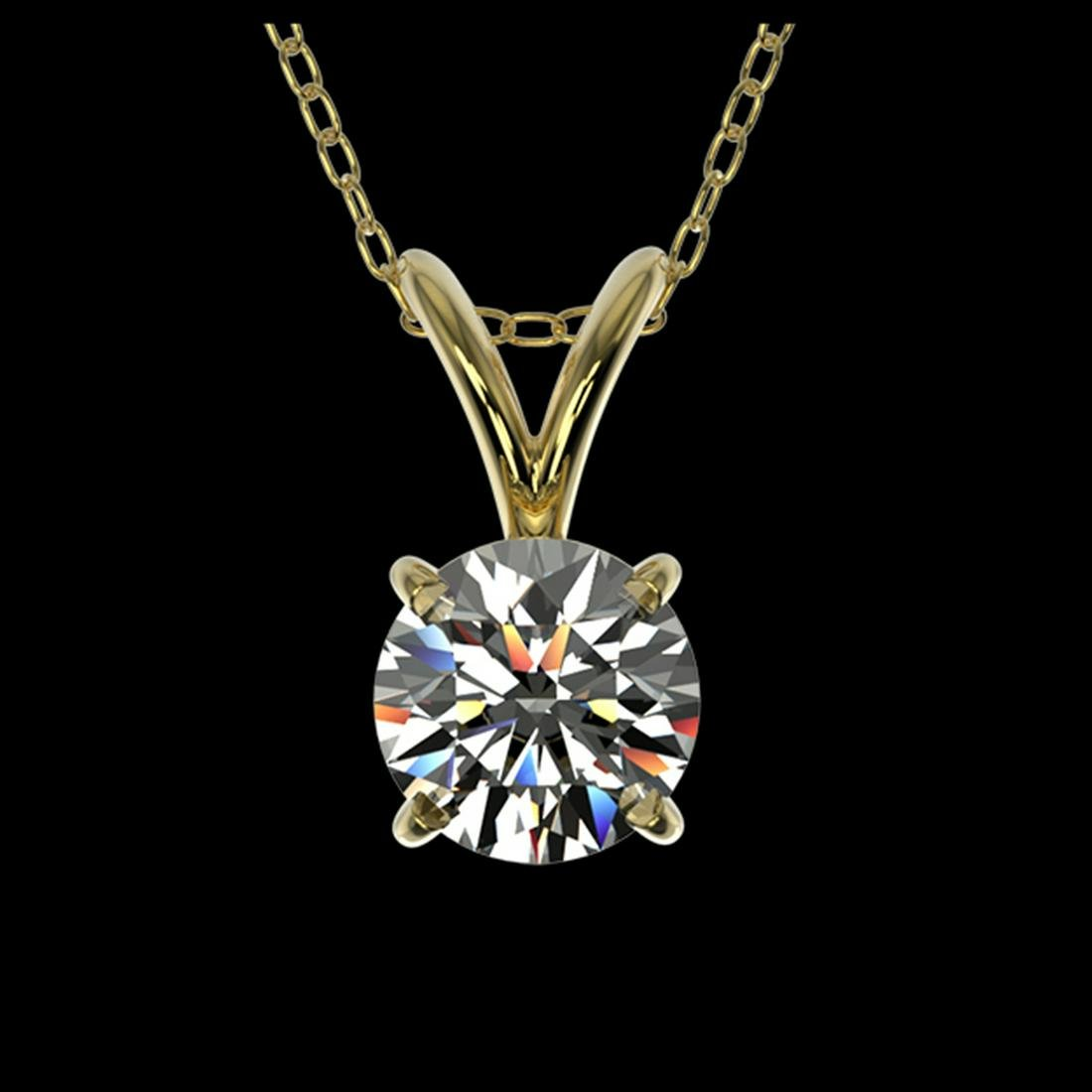 0.51 ctw H-SI/I Diamond Solitaire Necklace 10K Yellow