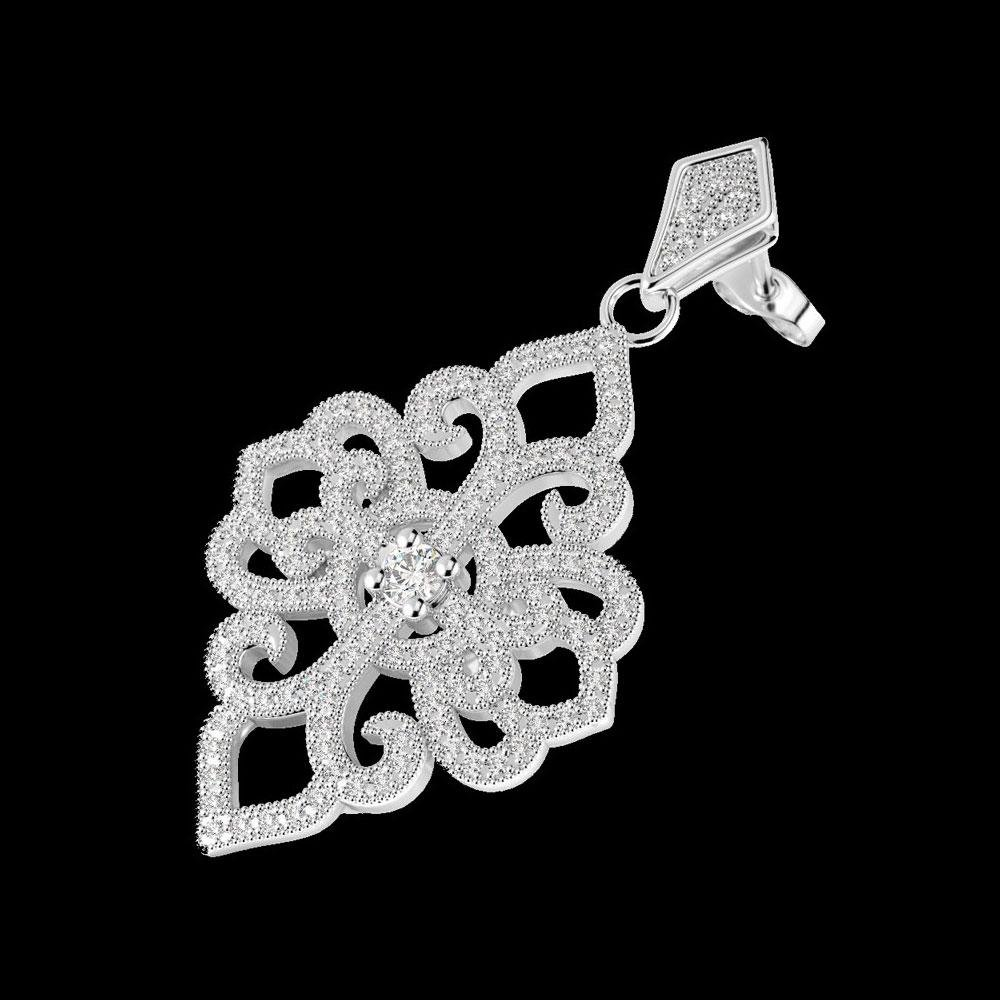 2.50 ctw VS/SI Diamond Earrings 14K White Gold