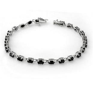 910 ctw Blue Sapphire Bracelet 10K White Gold