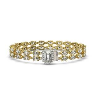 1304 ctw Emerald Cut Oval Diamond Bracelet 18K