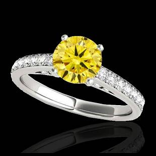150 ctw SII Fancy Intense Yellow Diamond Ring 10K