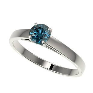 054 ctw Intense Blue Diamond Ring 10K White Gold
