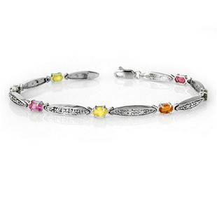 307 ctw MultiSapphire Diamond Bracelet 10K White