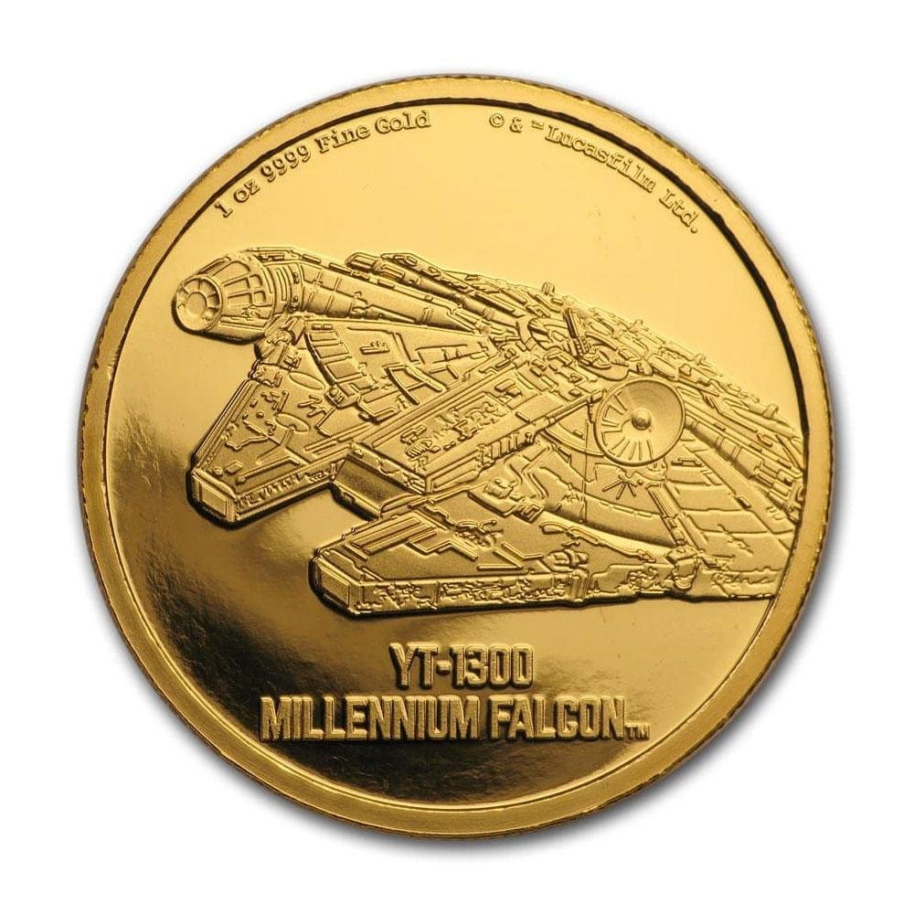 2020 Niue 1 oz Gold $250 Star Wars Millennium Falcon
