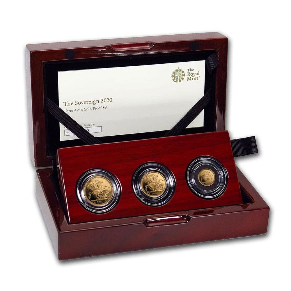 2020 Great Britain 3-Coin Gold Sovereign Proof Set