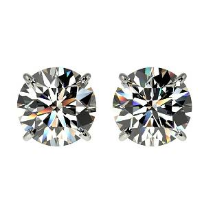 205 ctw HSII Diamond Stud Earrings 10K White Gold