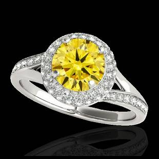 185 ctw SII Fancy Intense Yellow Diamond Ring 10K