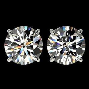4.04 ctw H-I Diamond Stud Earrings 10K White Gold