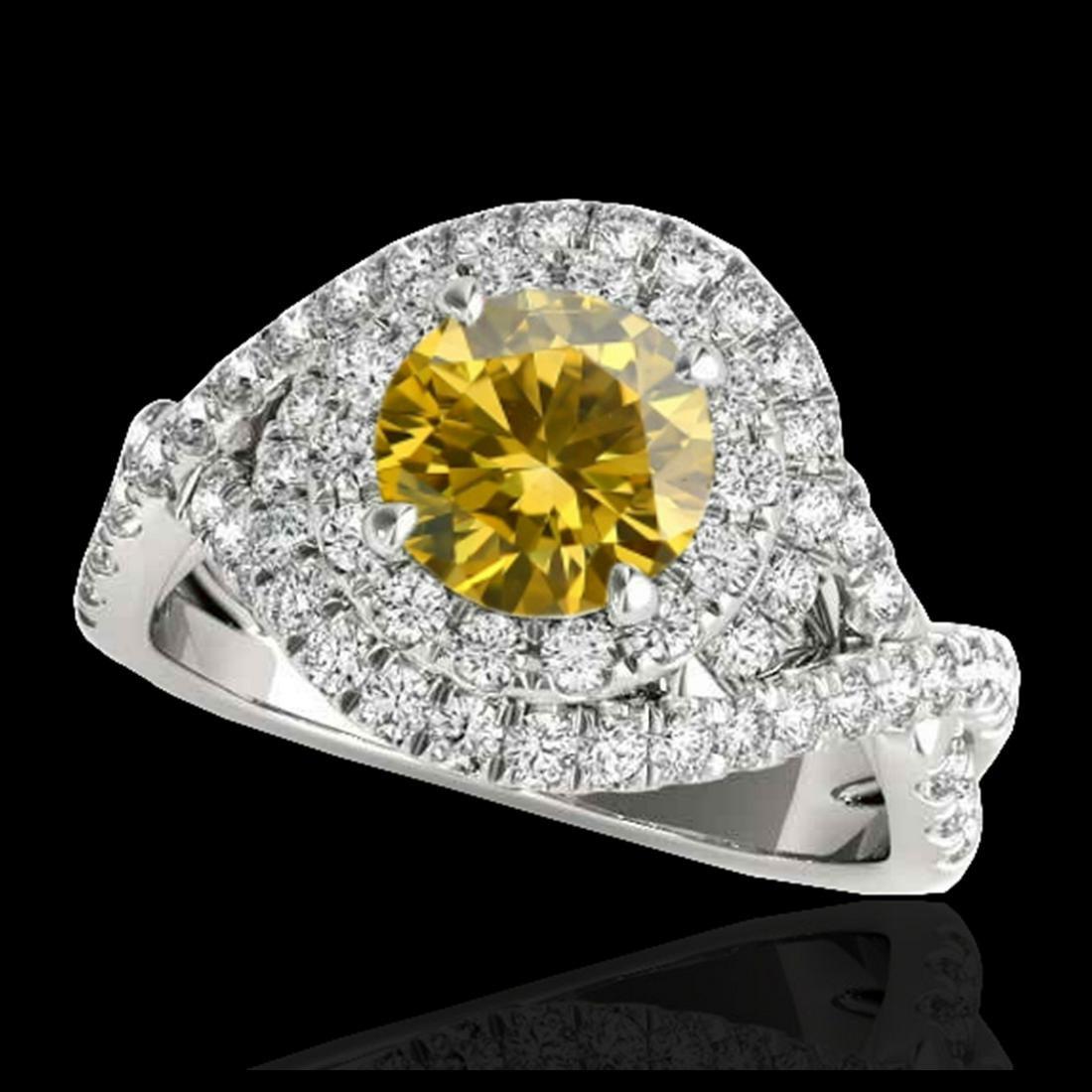 1.75 ctw SI/I Fancy Intense Yellow Diamond Ring 10K