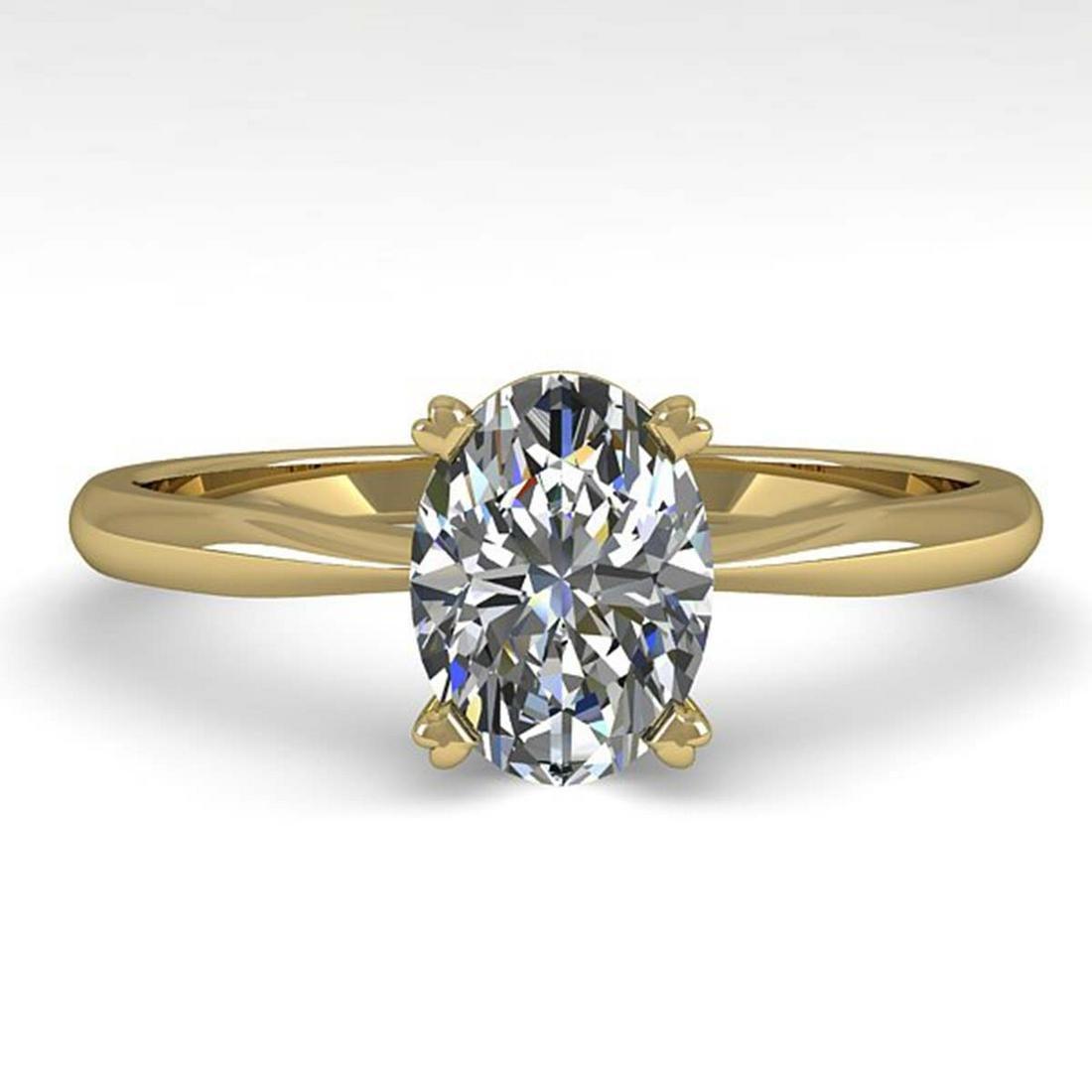 1 ctw VS/SI Oval Cut Diamond Ring 14K Yellow Gold