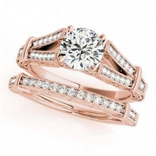 141 ctw VSSI Diamond 2pc Wedding Set 14K Rose Gold