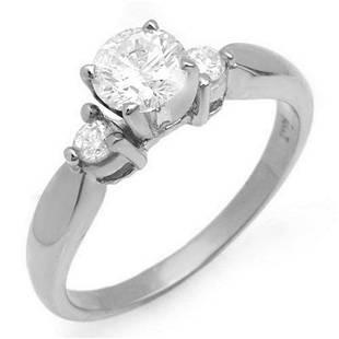 075 ctw VSSI Diamond Solitaire Ring 14K White Gold