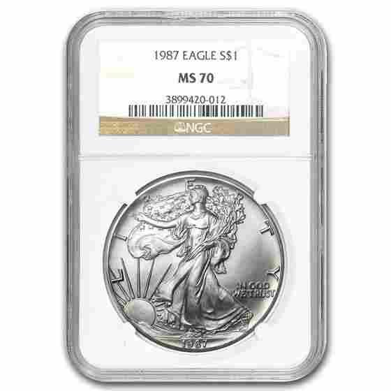 1987 Silver American Eagle MS-70 NGC (Registry Set)