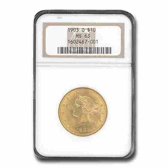 1903-O $10 Liberty Gold Eagle MS-63 NGC