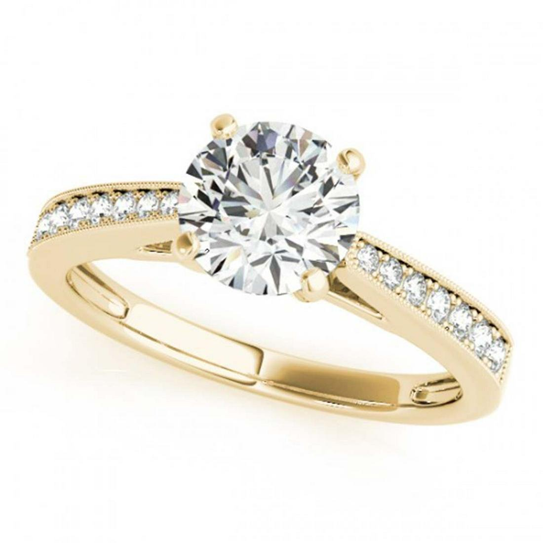 0.75 ctw VS/SI Diamond Solitaire Ring 14K Yellow Gold