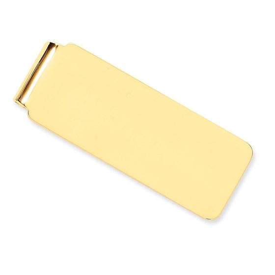 14k Solid Gold Money Clip (Smooth)