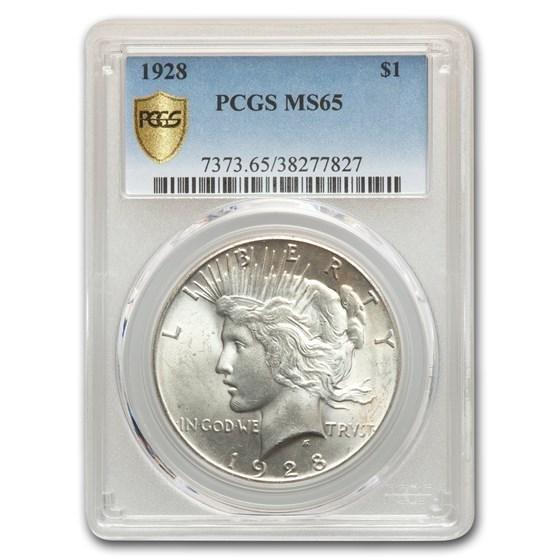 1928 Peace Dollar MS-65 PCGS