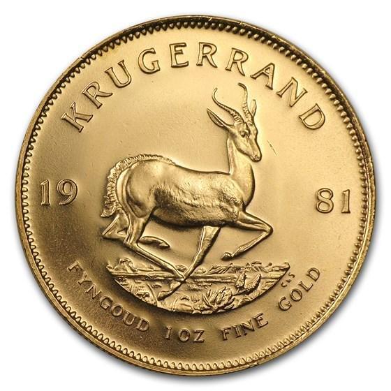 1981 South Africa 1 oz Gold Krugerrand