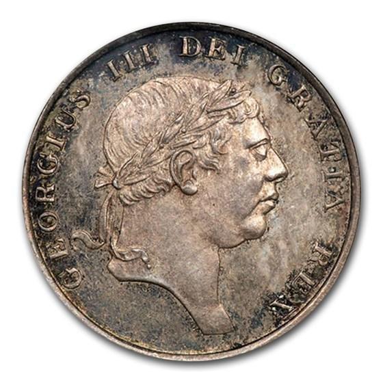 1814 Great Britain Ag 18 Pence Bank Token George III