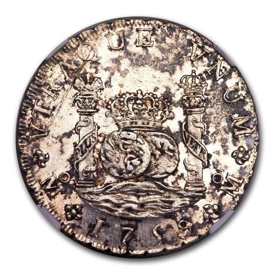 1808 Mo-TH Mexico Silver 8 Reales Ferdinand VI MS-61