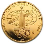 19771980 Russia Gold 100 Roubles Olympic BUProof