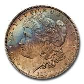 1887 Morgan Dollar MS65 NGC CAC Blue  Red Toning