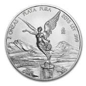 2015 Mexico 2 oz Silver Libertad BU