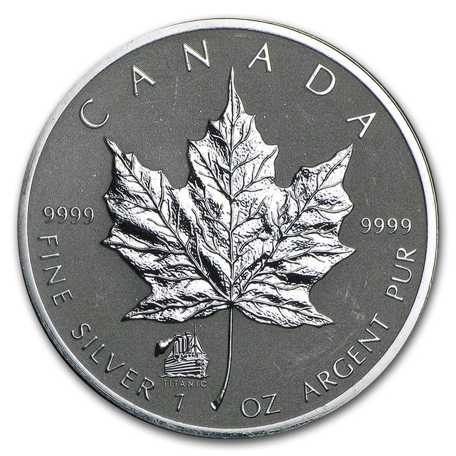 2012 Canada 1 oz Silver Maple Leaf Titanic Privy